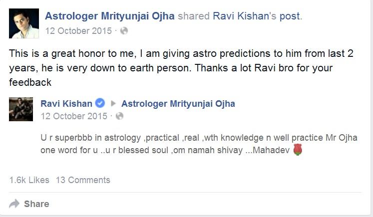 Ravi Kishan feedback