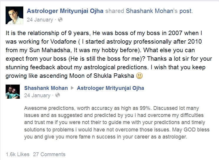 Shashank Mohan feedback